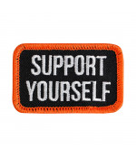 BILTWELL SUPPORT PATCH BLACK/WHITE/ORANGE DOPLNKY: ONE SIZE