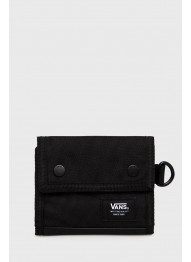 VANS MN KENT TRIFOLD WALLET BLACK-WHITE DOPLNKY: ONE SIZE