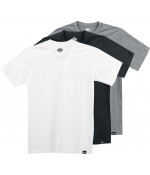 DICKIES MULTI-COLOUR V NECK T-SHIRT PACK