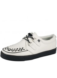 T.U.K. A6063 WHITE LEATHER CREEPER SNEAKER