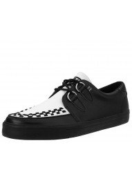 T.U.K. Black & White D-Ring VLK Sneaker